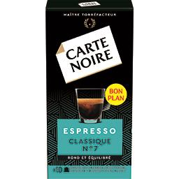 Capsules de café moulu Espresso Classique n°7