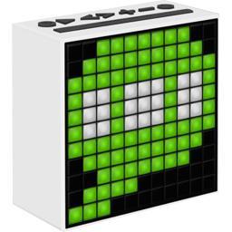 Enceinte Timebox Bla horloge FM blanche