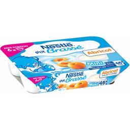 P'tit Brassé - Mini dessert abricot, 4/6+ mois