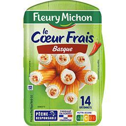 Fleury Michon Fleury Michon Le Cœur Frais basque au piment d'Espelette la boite de 14 bâtonnets - 224 g