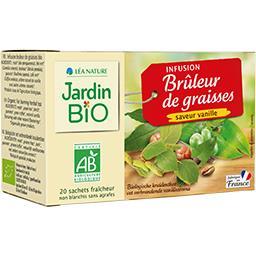 Jardin Bio Jardin bio Infusion Brûleur de Graisses BIO saveur vanille les 20 sachets de 1,5 g