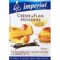 Préparation crème & flan pâtissier à la vanille natu...