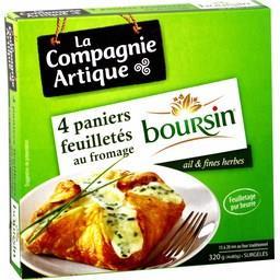 Paniers feuilletés au fromage Boursin ail & fines he...