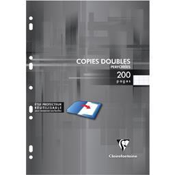 Clairefontaine Clairefontaine Copies doubles blanches perforées 210x297 seyès le paquet de 200 pages