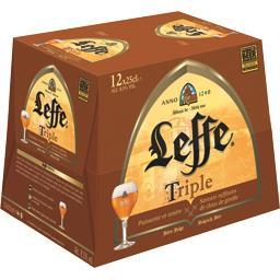 Triple Leffe Triple - Bière belge les 12 bouteilles de 25 cl