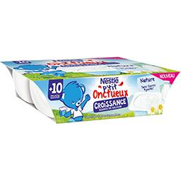 Nestlé Nestlé Bébé P'tit Onctueux Croissance - Dessert nature, +10 mois les 6 pots de 60 g