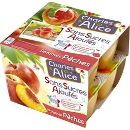 Purée de pommes pêches sans sucres ajoutés