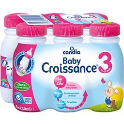 Baby Croissance - Lait de suite liquide 3, 10 mois à...
