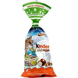 Kinder Chocolat au lait Mini Eggs fourrés noisettes