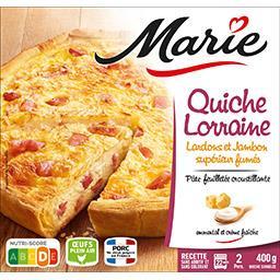 Marie Marie Quiche Lorraine lardons et jambon supérieur fumés la boite de 400 g