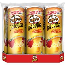 Pringles Biscuits apéritif Paprika les 6 boites de 175 g