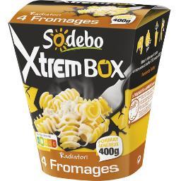 Sodeb'O Sodebo Xtrem Box - Radiatori 4 fromages la boite de 400 g