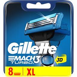 Gillette Gillette Lames de rasoir pour homme Mach3 Turbo La boite de 8 recharges