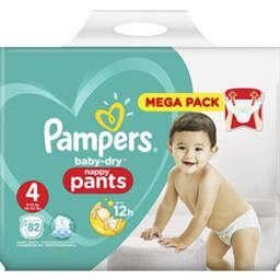 Pampers Pampers Baby-dry - pants - taille 4 9-15 kg - couches-culottes Le paquet de 82