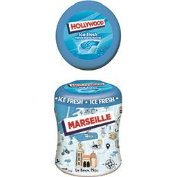 Hollywood Hollywood Ice Fresh - Chewing-gum parfum menthe fraîche sans sucres la boite de 87 g