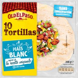 Tortillas au maïs blanc
