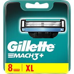 Gillette Gillette Lames de rasoir pour homme Mach3+ La boite de 8 lames