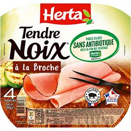 Herta Tendre Noix - Jambon à la broche sans antibiotique