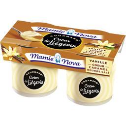 Gourmand - Cœur de Liégeois vanille cœur caramel beu...
