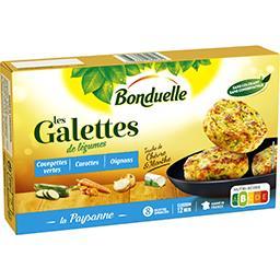 Bonduelle Bonduelle Galettes courgettes vertes carottes oignons la boite de 8 galettes - 300 g