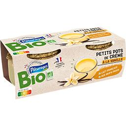 Bio Pâturages Petits pots de crème à la vanille BIO les 2 pots de 100 g