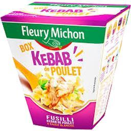 Kebab de poulet pâtes Fusilli & sauce blanche