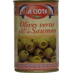 Olives vertes à la farce de saumon