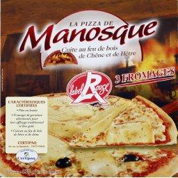 La Pizza de Manosque Pizza 3 fromages Label Rouge