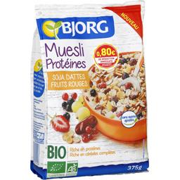 Muesli Protéines soja dattes fruits rouges BIO