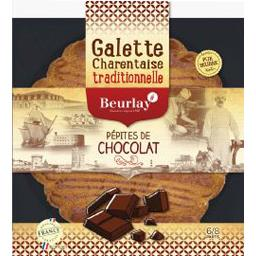 Galette charentaise traditionnelle pépites de chocolat