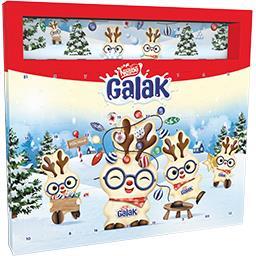 Smarties Nestlé Chocolat Galak - Calendrier de l'Avent chocolat blanc le calendrier de 181 g