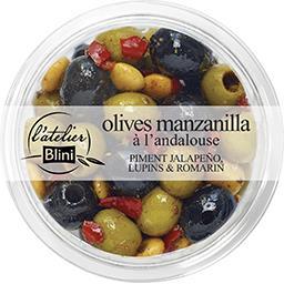 Blini L'Atelier Blini Olives manzanilla à l'andalouse la barquette de 150 g