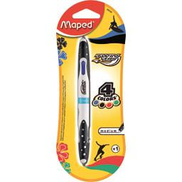 Stylo bille Twin Tip 4 Couleurs medium