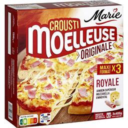 Marie Marie Crousti Moelleuses - Pizza Originale Royale la boite de 3 - 1200 g