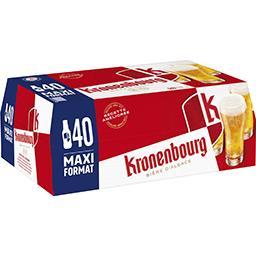 Kronenbourg Kronenbourg Bière blonde d'Alsace les 40 bouteilles de 25 cl