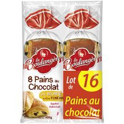 La Boulangère La Boulangère Pains au chocolat pur beurre le lot de 16 - 800 g - Format familial