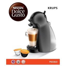 Dolce Gusto - Cafetière Krups Piccolo anthracite