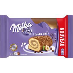 Milka Biscuit Tender Roll goût choco noisettes le paquet de 4 - 148 g