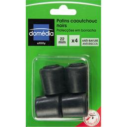 Patins en caoutchouc noirs 22mm