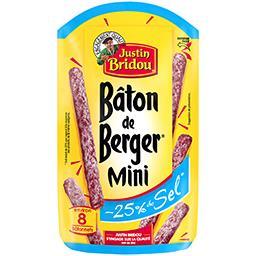 Justin Bridou Justin Bridou Le Bâton de Berger - Mini saucisson sec réduit en sel le sachet de 80 g