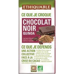 Chocolat noir quinoa BIO