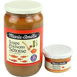 Marie-Amélie Marie-Amélie Les traditions, soupe de poissons à la sétoise + rouille à la sétoise  le bocal,870g