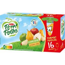 Materne Materne Assortiment de compote pomme nature/pomme poire les 16 gourdes de 90 g