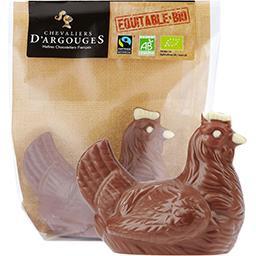 Poule au chocolat au lait 37% de cacao