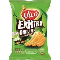 Chips Exxtra ondulées saveur crème oignon