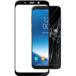 Verre trempé noir pour Samsung Galaxy A8 2018