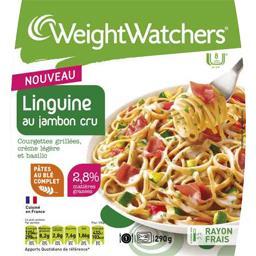 Linguine au jambon cru