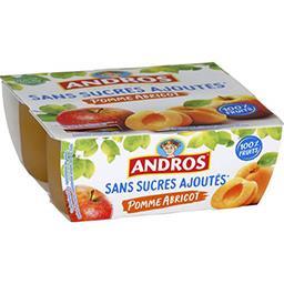 Dessert fruitier pomme abricot sans sucres ajoutés