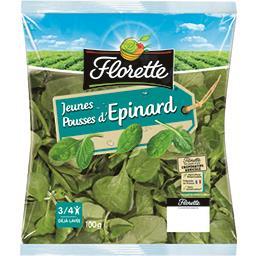 Florette Florette Jeunes pousses d'épinard le sachet de 100 gr environ