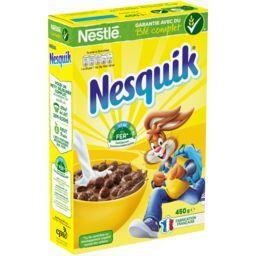 Nestlé Nestlé Céréales Nesquik - Céréales au chocolat la boite de 450 g